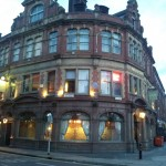 This amazing Victorian inn greets you as soon as you cross the river.