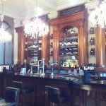The bar. Posh-looking but surprisingly relaxed.