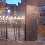 There is a yard at Shears Yard. Maybe there are tables in the summer?