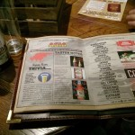 "Pages from the ""beer passport"". It's all a little bit weird."