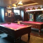 Two pool tables add to the immensely long list of amenities.
