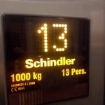 Just take Schindler's lift up to thirteen.