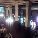 Panoramic view from the mezzanine! That pink glow is the wild boar.