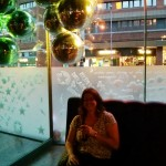 Sit under disco balls like  a player.