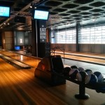Bowling! Definitely a first for bars in central Leeds.